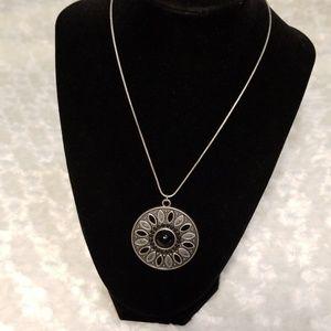 🎄Brushed Silver Vintage Medallion Necklace